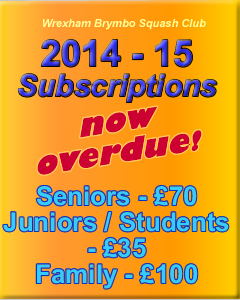Subscriptions now due